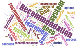 Recommendation Page Word Cloud